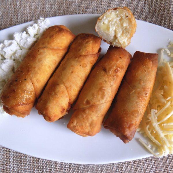 ρολάκια με 3 τυριά